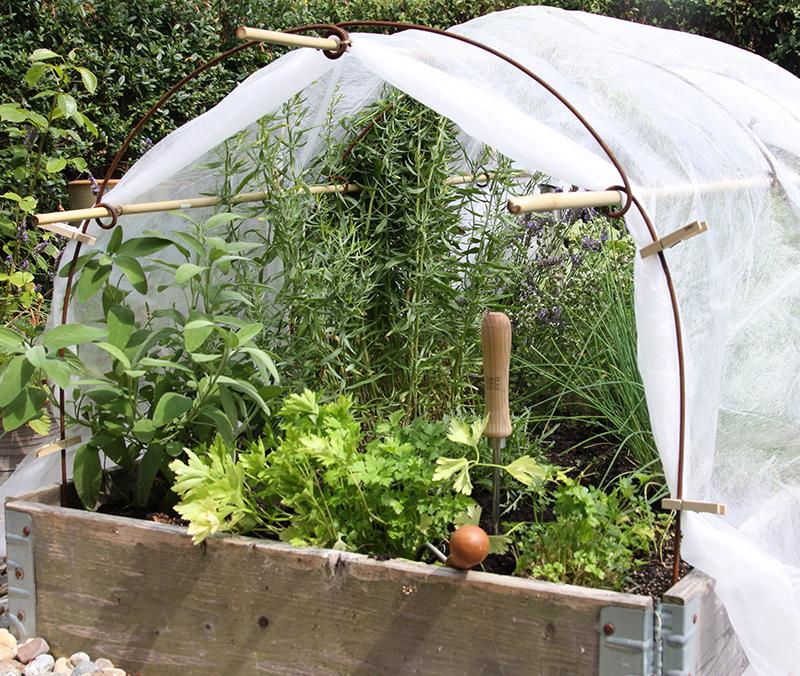 Täckning med väv för odling