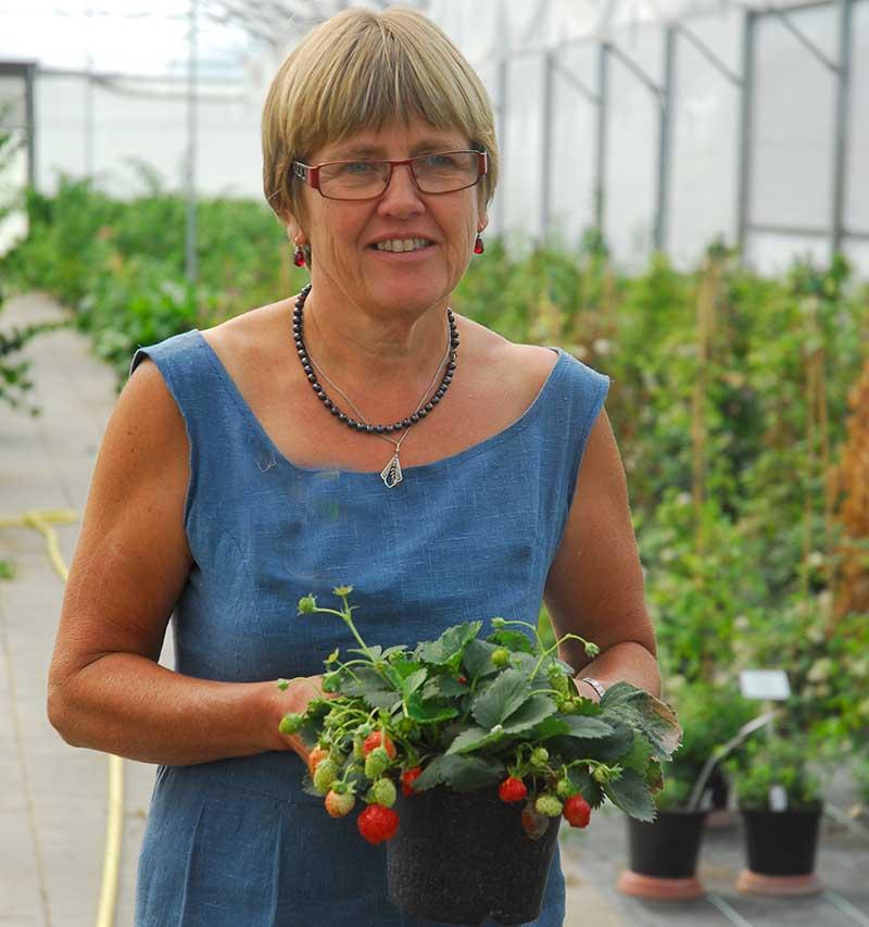 Elisabet Martinsson på elitplantskationen