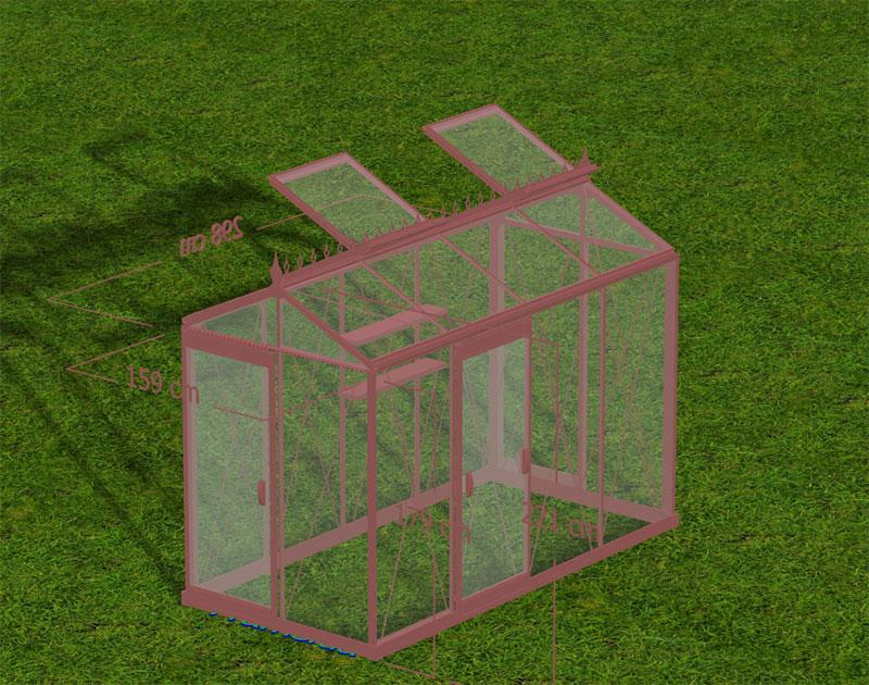 3D-skiss av beställt växthus