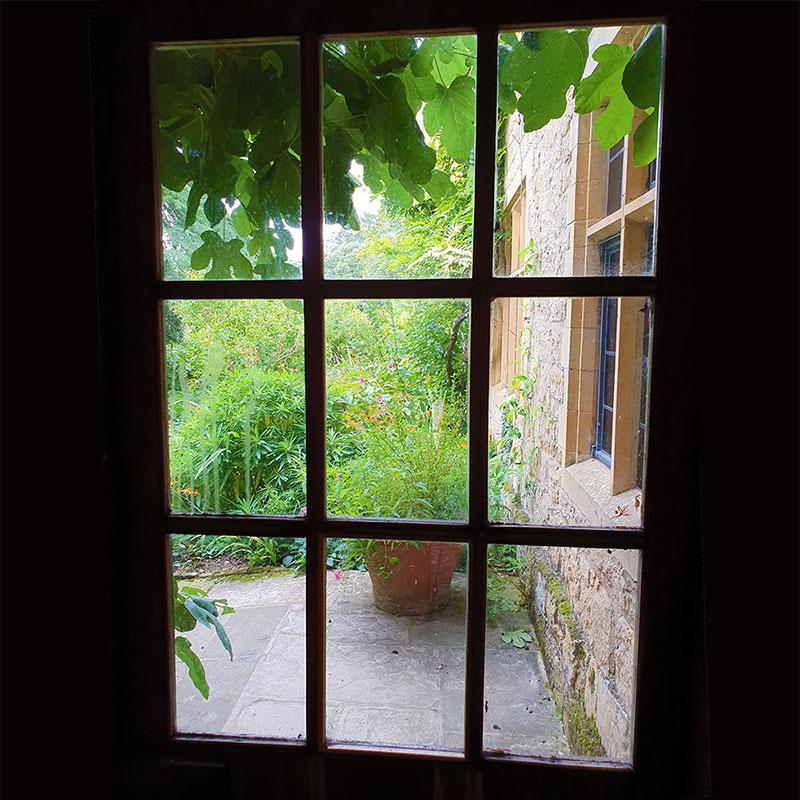 Utsikt till trädgården på Hidcote Manor