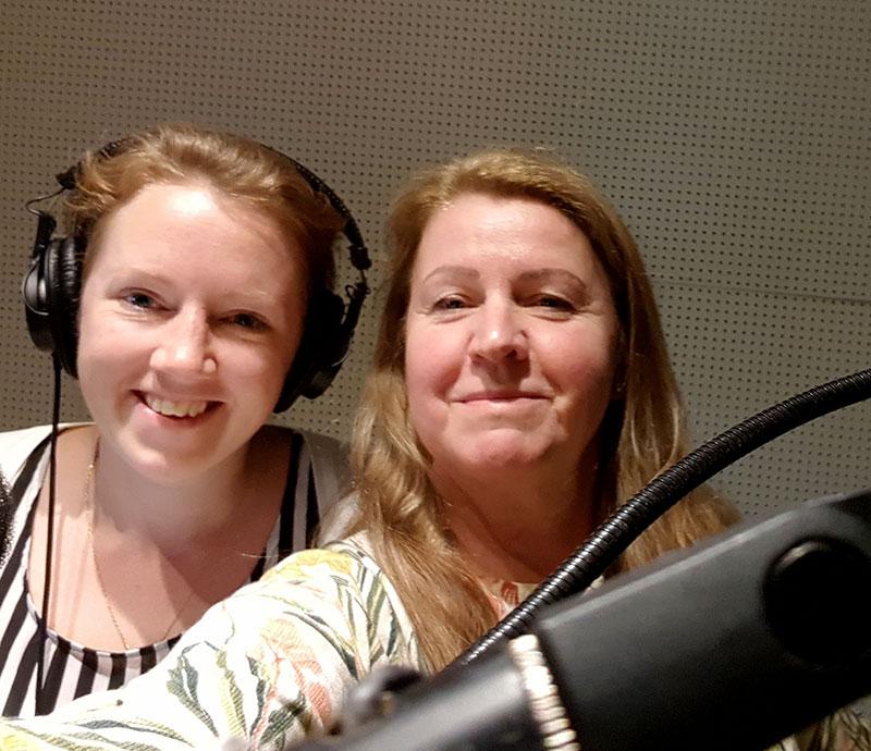 Therese Roseninge och jag i inspelningsstudion