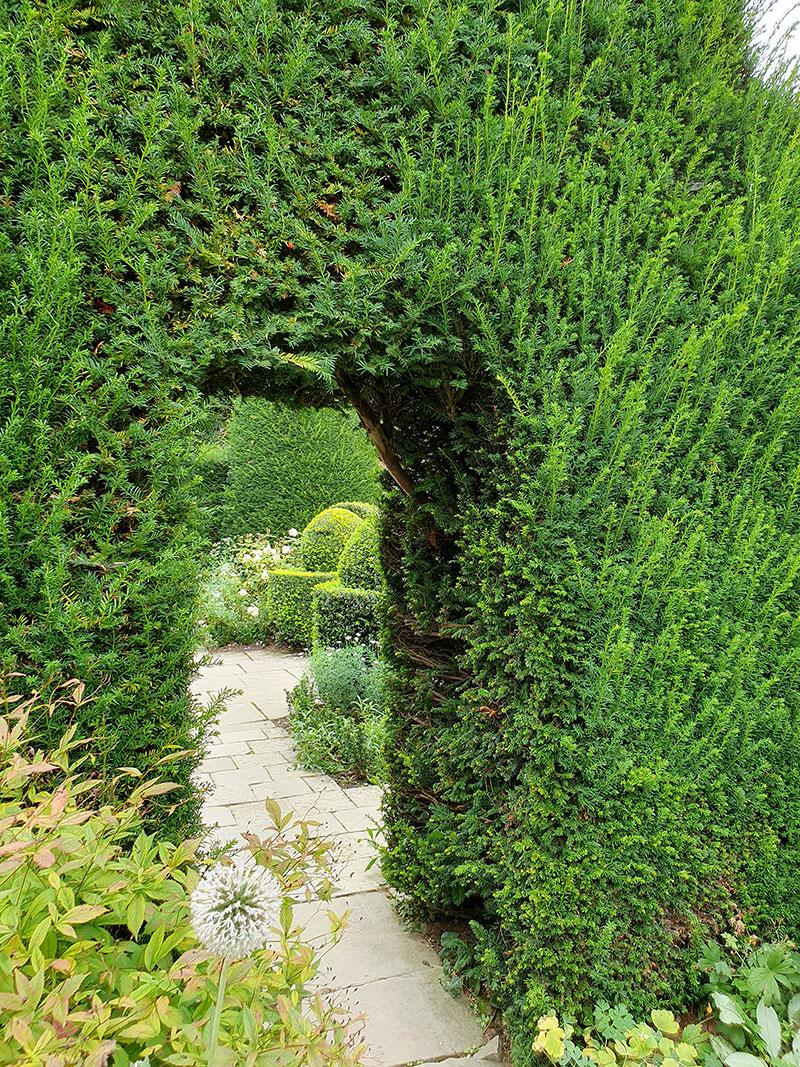 Rumsindelning i trädgården Hidcote Manor