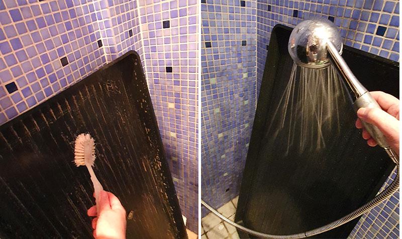 Odlingsbrätten tvättas ordentligt innan användning