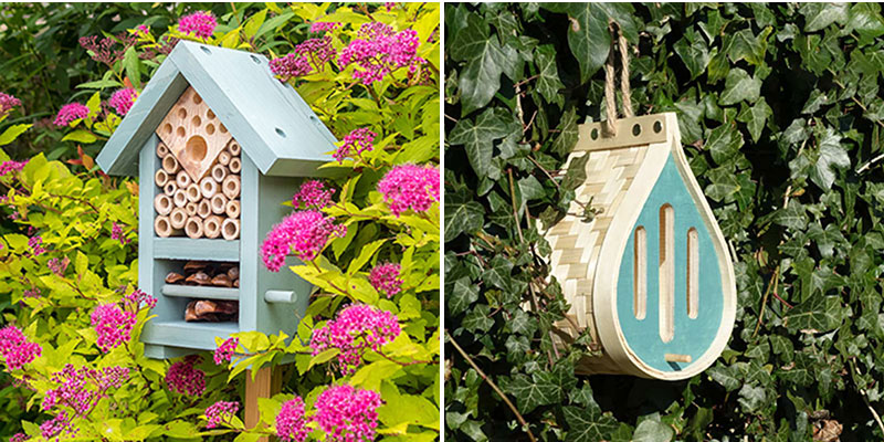 insektshotell för bin och fjärilar