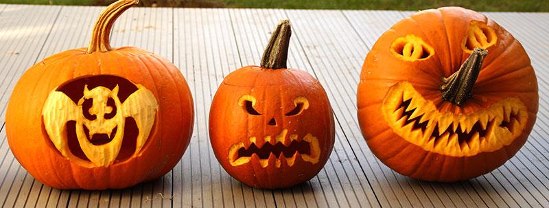 Olika sätt att använda pumpor till halloween
