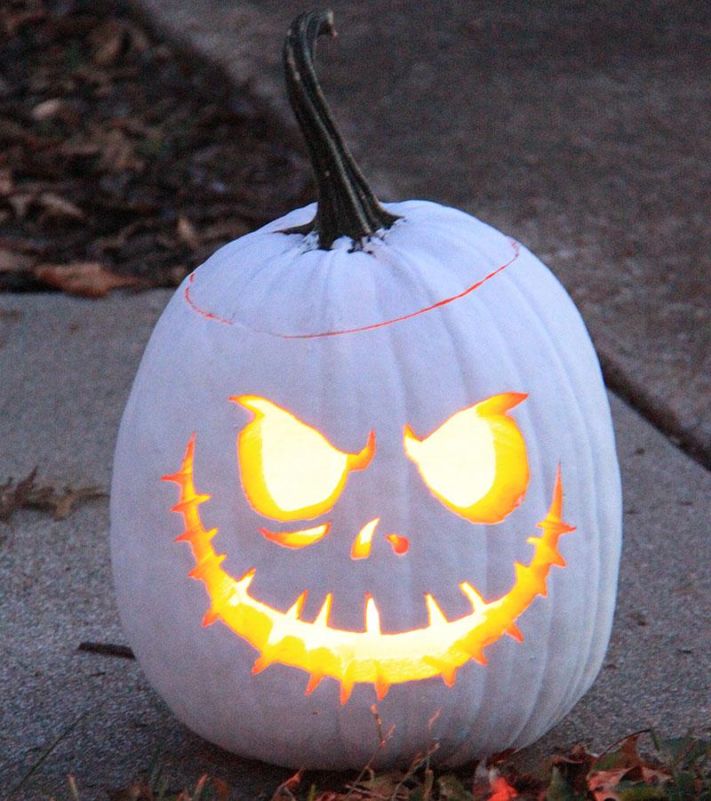 Vit halloweenlykta som spöke
