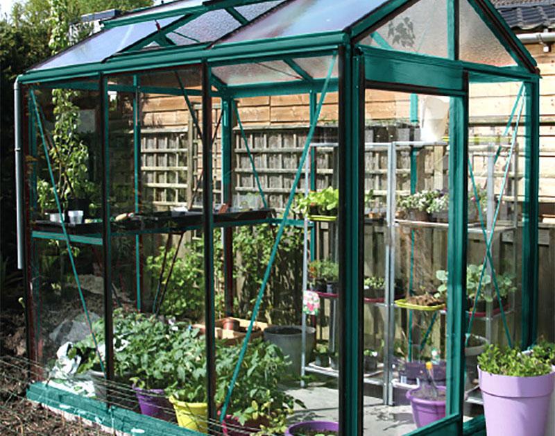 Växthus Piccolo på våren