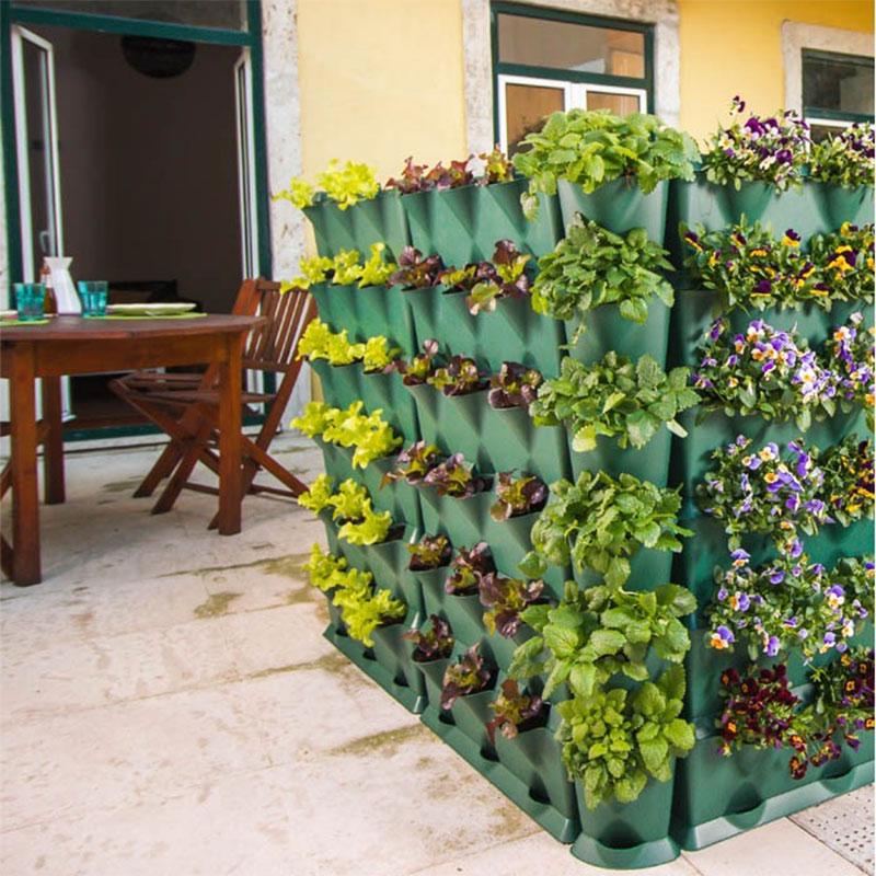 Väggodling på balkong i Minigarden Vertical