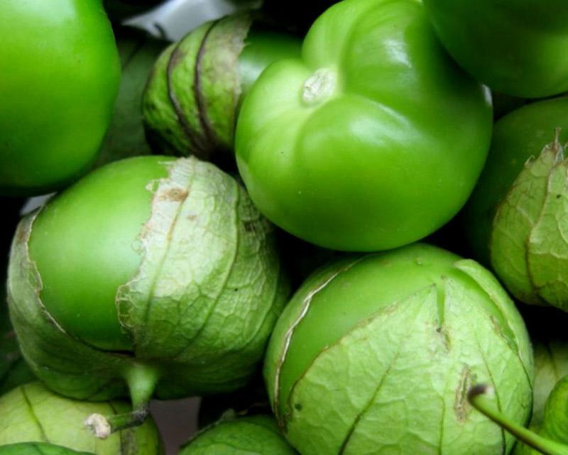 Tomatillo är vanlig i mexikanska rätter