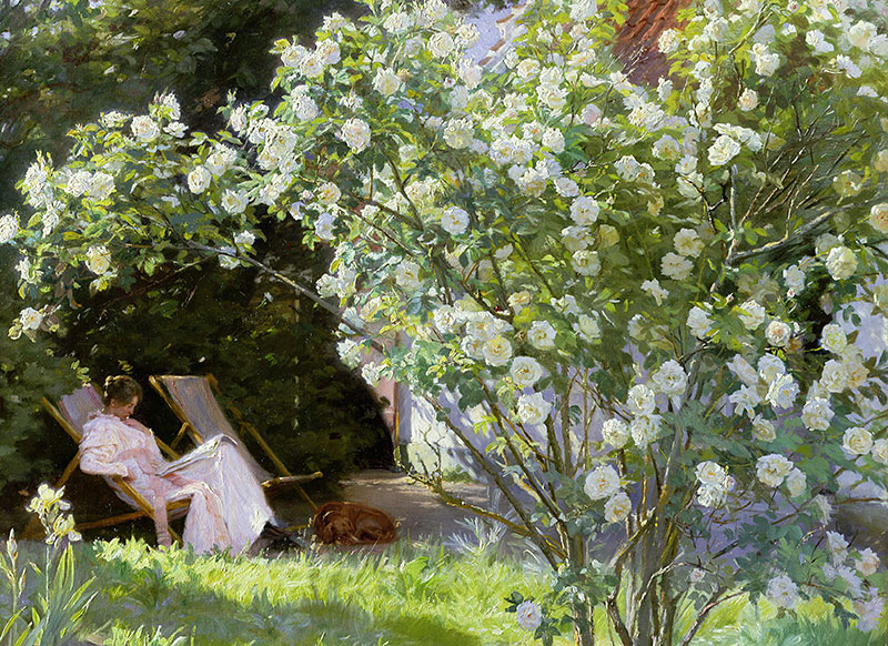 PS Krøyer konstverk Marie i haven Rosa Alba Maxima