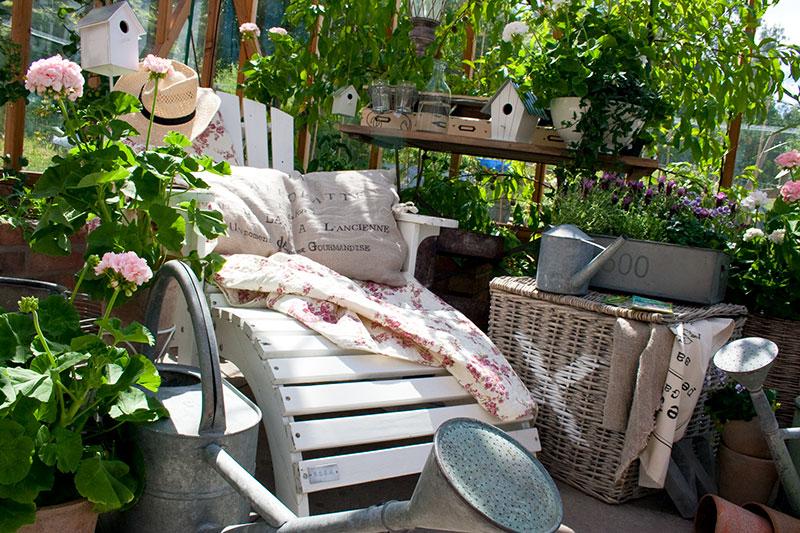 Sittplats i växthus