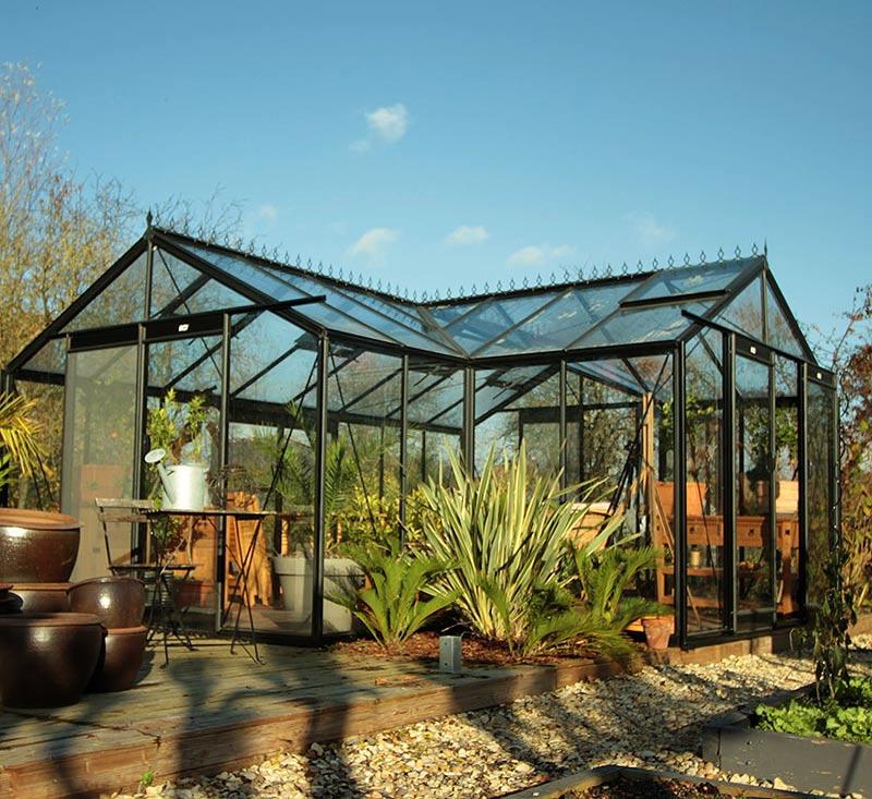 Orangeriväxthus modell Sophie för samvaro och odling