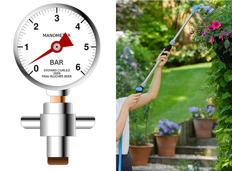 Mätning av vattentryck med manometer