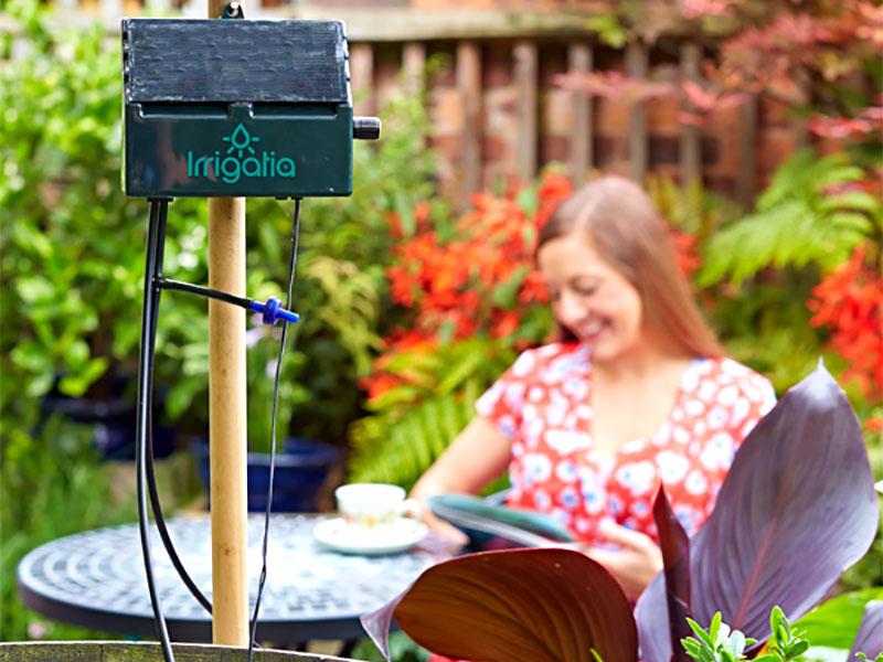 Irrigatia - solcellsdriven automatisk bevattning för trädgården