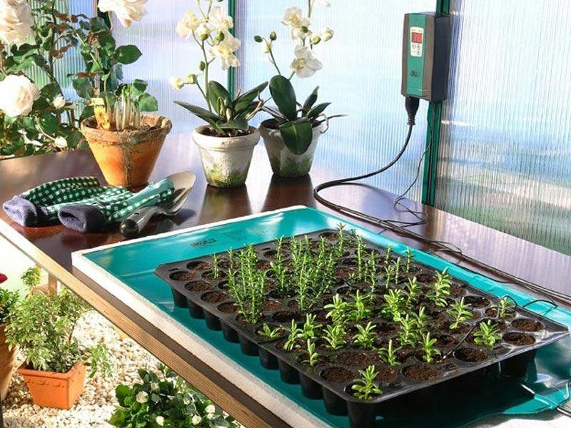 Undervärmematta för uppdragning av växter i växthus