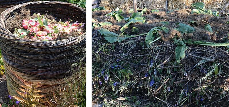 liten och stor kompost