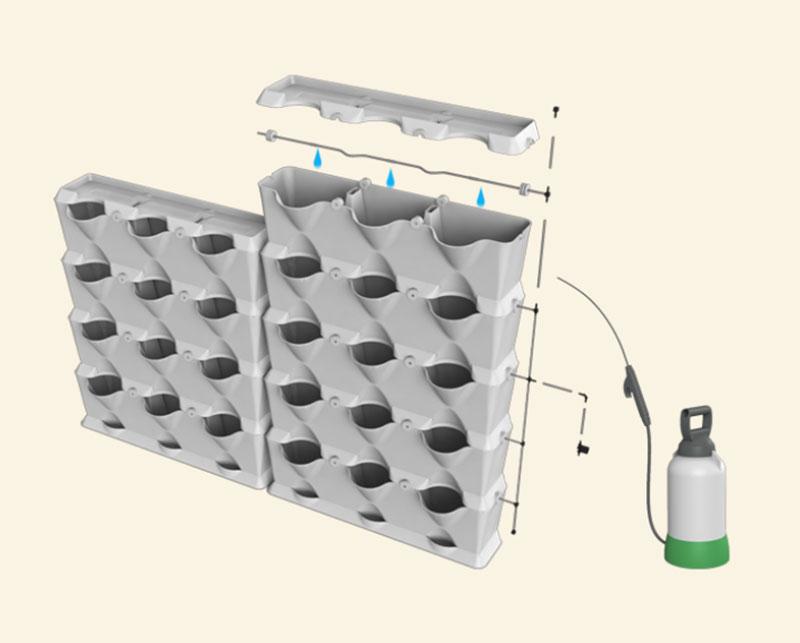 Bevattningssystem för väggodling
