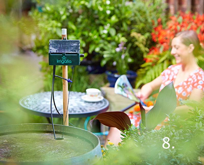 Automatisk bevattning i trädgården Irrigatia