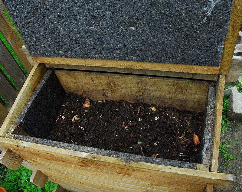 Mullbanken kompost för köksavfall