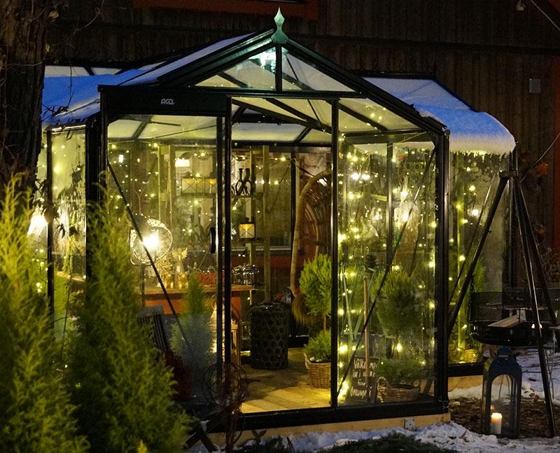 Växthus Babette från Wexthuset på vintern