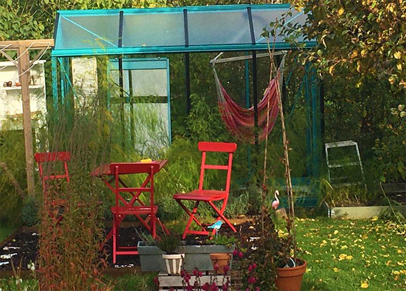 Växthus på hösten