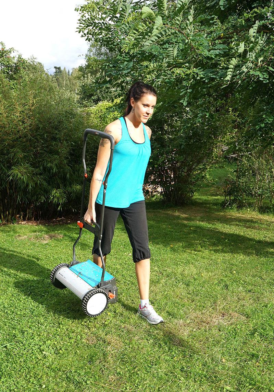 Bära iväg med gräsklippare