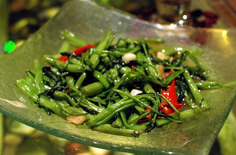 wokad kinesisk spenat sallatsipomoea kinesisk spenat