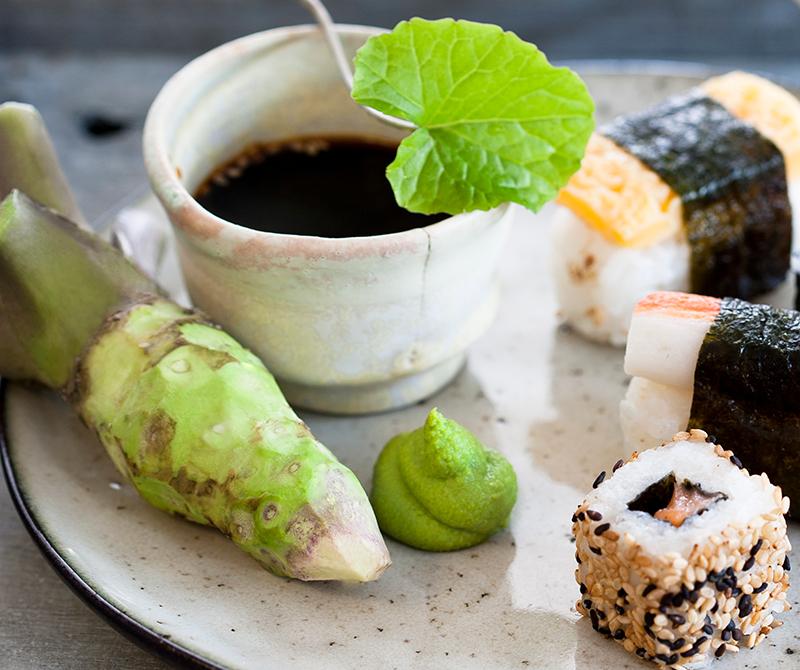 Hemodlad wasabi till sushi
