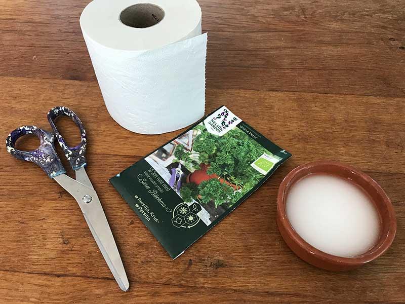 Hemmagjort såband av toalettpapper