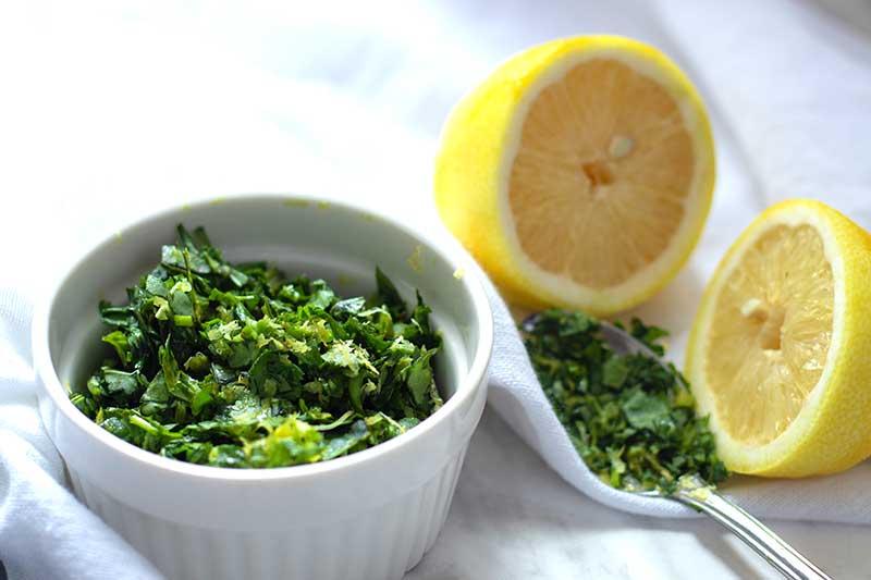 gremolata med persilja och citron