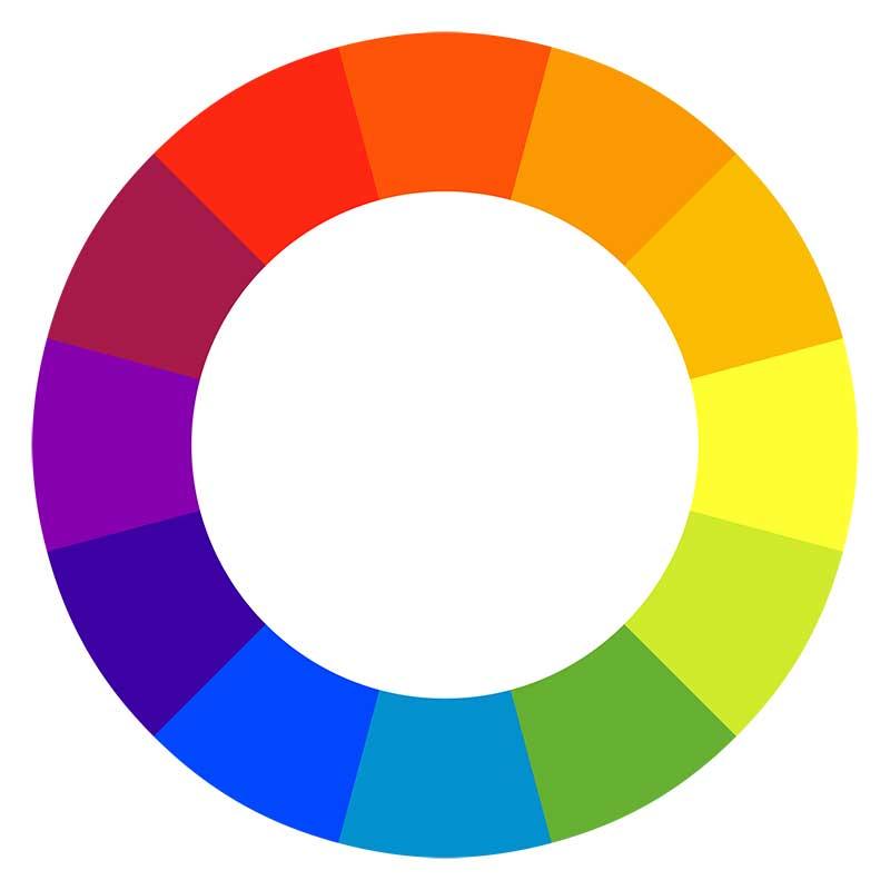 Färgcirkel för val av blommor