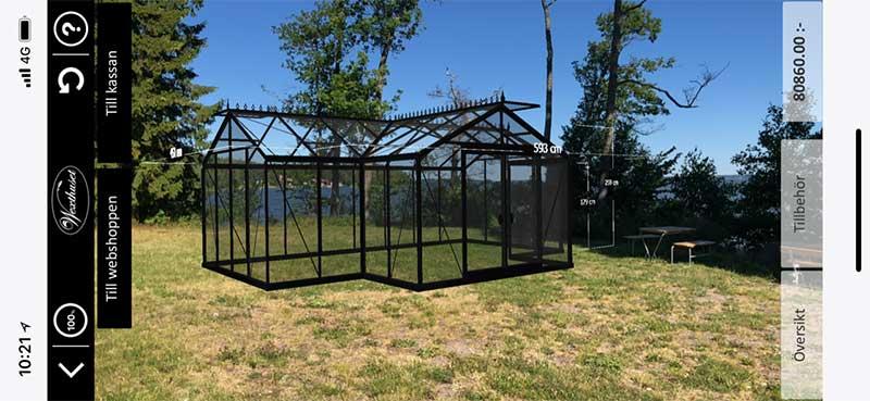 Bygg ditt eget växthus i Augumented Reality - Förstärkt verklighet