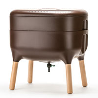Maskkompost UrbaLive, brun, med en låda
