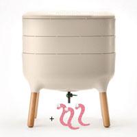 Maskkompost UrbaLive med kompostmask, ivory