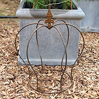 Trädgårdskrona i rost