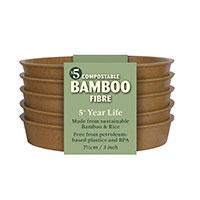Krukfat i bambu 7,5 cm terrakotta, 5-pack