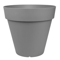 City Classic kruka 70x66 cm, grå, för inomhus och utomhusbruk.