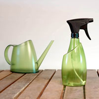 Fuchsia sprayflaska och vattenkanna, bottle green