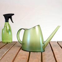 Fuchsia vattenkanna och sprayflaska, bottle green