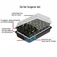 växthus för frösådd med underbevattning