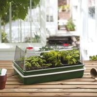 Miniväxthus med ställbar termostat