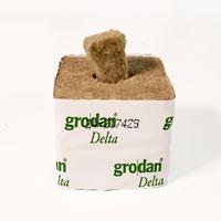 Grodan Rockwool odlingskub 7,5 cm med plugg.