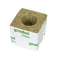 Grodan Rockwool odlingskub 7,5 cm med 4 cm hål