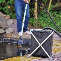 Användning av Pond Vac uppsamlingskorg