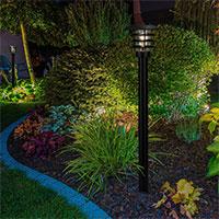 Rabattbelysning med Saturnus, Svart - LED Garden Plug & Play