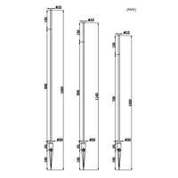 Straw 1-2-3 utelampa med tre armaturer i ett set