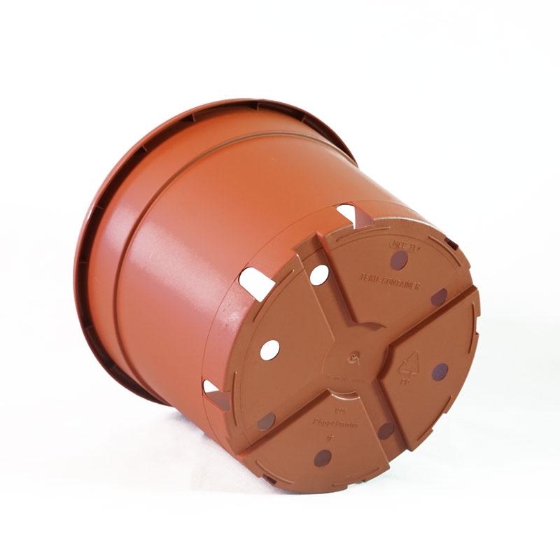 Stabil tegelfärgad innerkruka i plast, 29 cm, botten