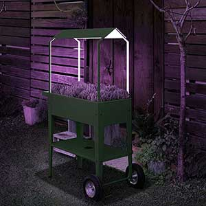 Urban Garden Trolley, odlingsvagn med överdel och växtlampa
