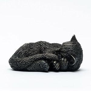 Dekorativa krukfötter för att undvika fula märken modell Sovande Katt