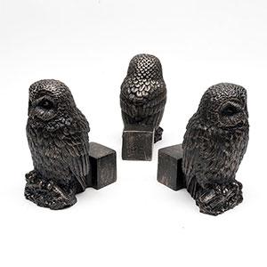 Krukfötter med motiv ugglor, 3-pack